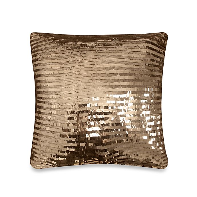 Alternate image 1 for Veratex Diamonte Toss Square Throw Pillow in Chocolate
