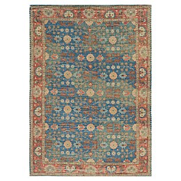 KAS Morris Traditions 2'3 x 3'9 Accent Rug in Blue/Red