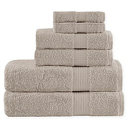 Madison Park Organic 6-Piece Towel Set in Tan