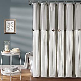 Lush Decor Color Blocking Shower Curtain