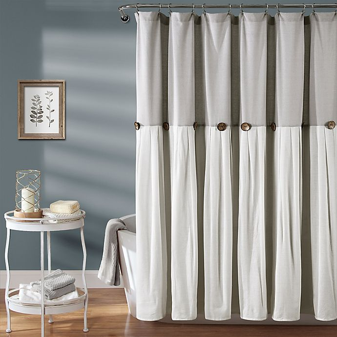 Lush Decor Color Blocking Shower, What Color Goes With Gray Shower Curtain
