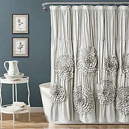 Lush Decor Serena Shower Curtain in Light Grey