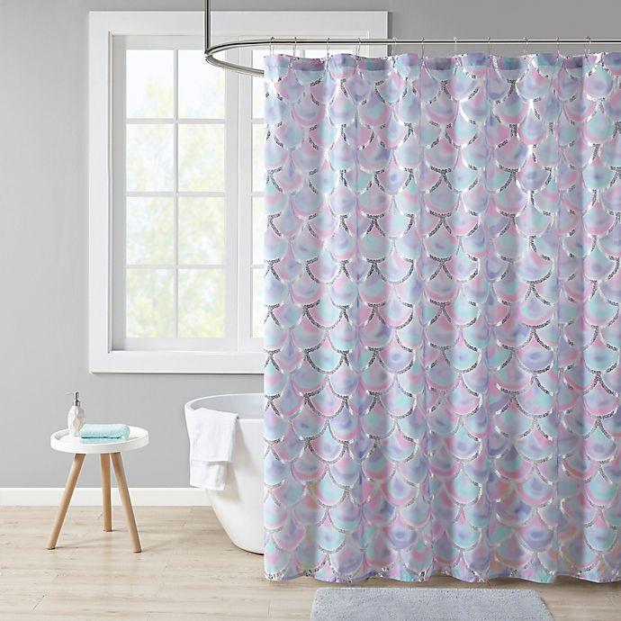 Alternate image 1 for Mi Zone Pearl Metallic Printed Shower Curtain