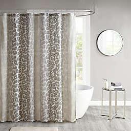 Madison Park Leo Cotton Gauze Printed Shower Curtain