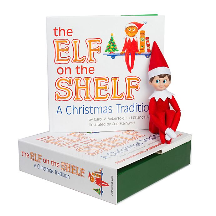 Alternate image 1 for The Elf on the Shelf® A Christmas Tradition Book Set with Light Skin Tone Boy Elf