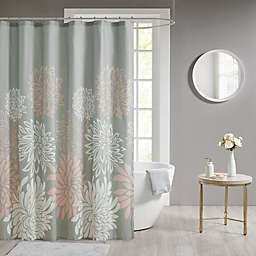 Madison Park Maible Floral Shower Curtain in Blush