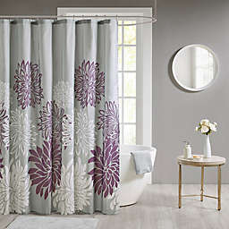 Madison Park Maible Floral Shower Curtain in Purple
