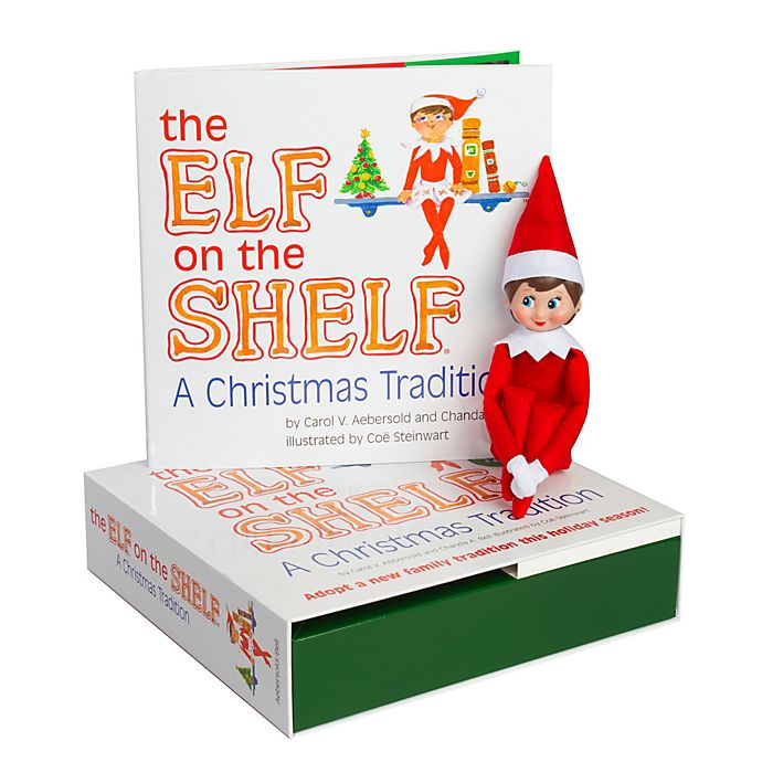 Alternate image 1 for The Elf on the Shelf® A Christmas Tradition Book Set with Light Skin Tone Girl Elf