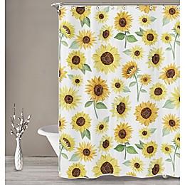 Sweet Jojo Designs Sunflower Shower Curtain in Yellow/Green