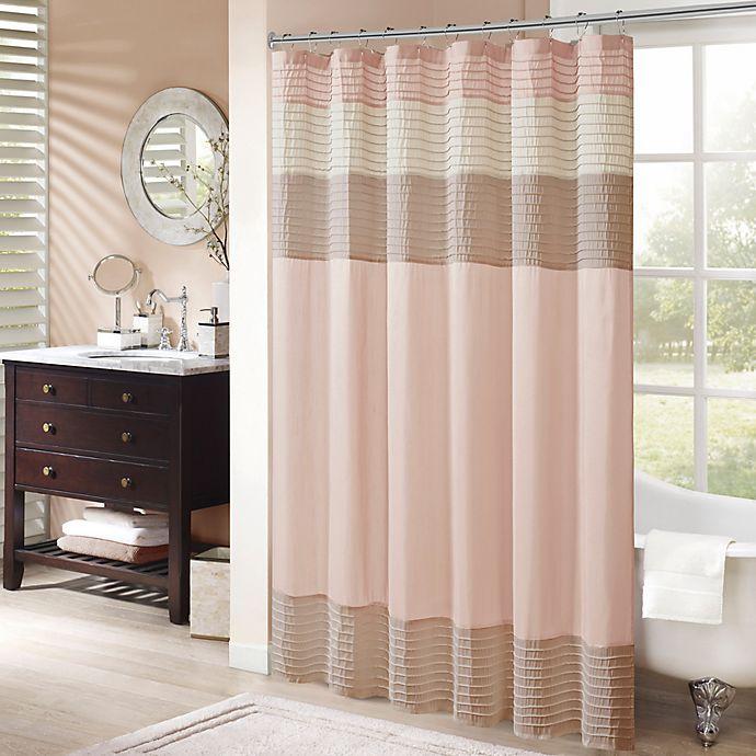 Alternate image 1 for Madison Park 3281983 Shower Curtain in Blush