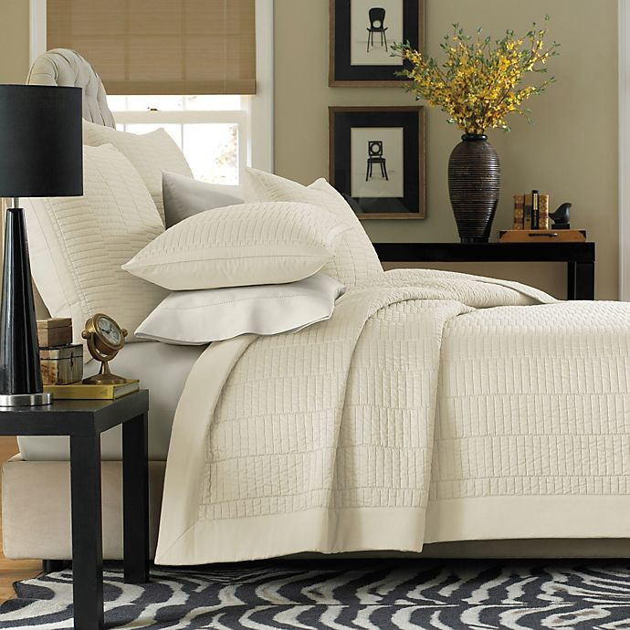 Real Simple® Dune Coverlet in Ivory | Bed Bath & Beyond