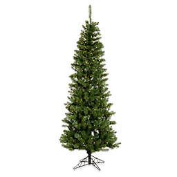 Vickerman 6.5-Foot Salem Pine Pre-Lit Pencil Christmas Tree with Warm White LED Lights