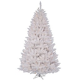 Vickerman Sparkle White Spruce Pre-Lit Christmas Tree with Clear Lights
