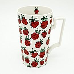Strawberry 23 oz. Coffee Mug in Red