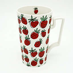 Strawberry 23 oz. Coffee Mug in Red