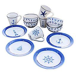 Euro Ceramic Ahoy 12-Piece Dessert Set