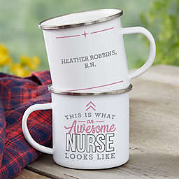This Is What an Awesome Nurse Looks Like Personalized Camping Mug