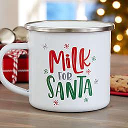 Milk for Santa Personalized Christmas Camping Mug