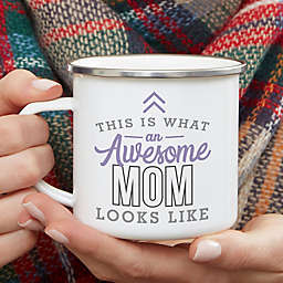This Is What an Awesome Mom Looks Like Personalized Camping Mug