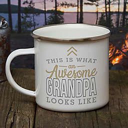 This Is What an Awesome Grandpa Looks Like Personalized Camping Mug