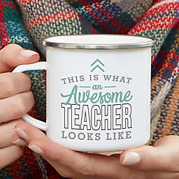 This Is What an Awesome Teacher Looks Like Personalized Camping Mug