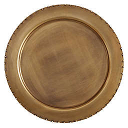 Saro Lifestyle Puntini Charger Plates in Gold (Set of 4)