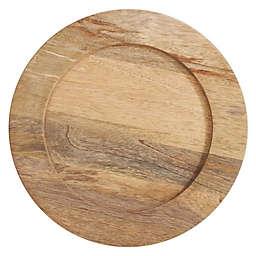 Saro Lifestyle Grain de Bois Charger Plates in Natural (Set of 4)