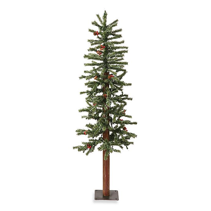 Vickerman 5-Foot Frosted Alpine Berry Pre-Lit Christmas ...