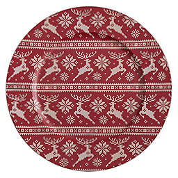 Saro Lifestyle Reindeer Charger Plates (Set of 4)