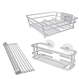ORG Aluminum Dish Rack Collection in Grey