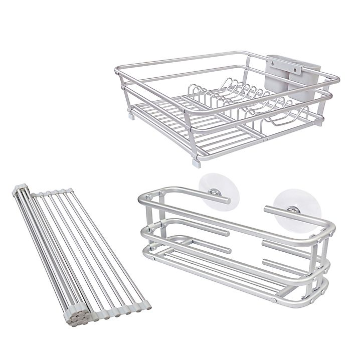 Alternate image 1 for ORG Aluminum Dish Rack Collection in Grey