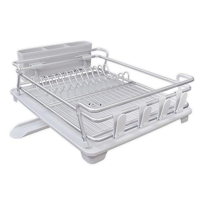 Alternate image 1 for .ORG® Aluminum Single Tier Dish Rack Set in Grey
