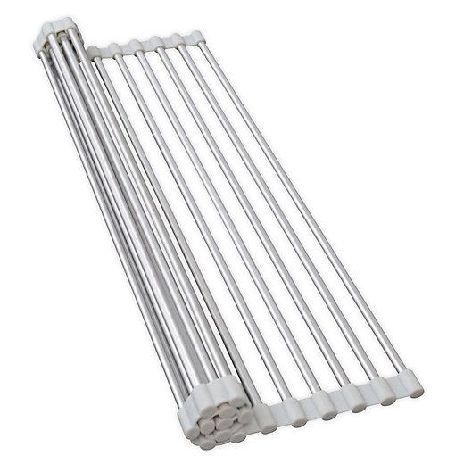 Alternate image 1 for ORG Aluminum Over-the-Sink Drying Rack in Grey