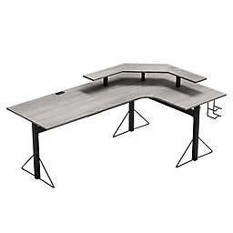 Jamesdar Carnegie Power Gaming L-Desk in Grey/Black