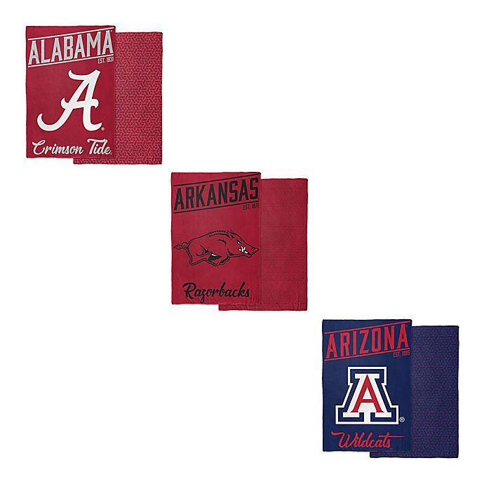 Alternate image 1 for Collegiate Reversible 6 lb.  Quilted Weighted Blanket Collection