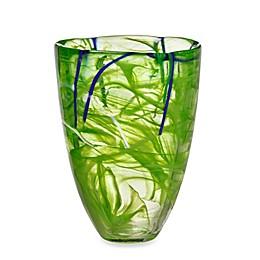 Kosta Boda Contrast Vase in Lime