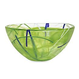 Kosta Boda Small Contrast Bowl in Lime