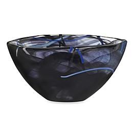 Kosta Boda Small Contrast Bowl in Black