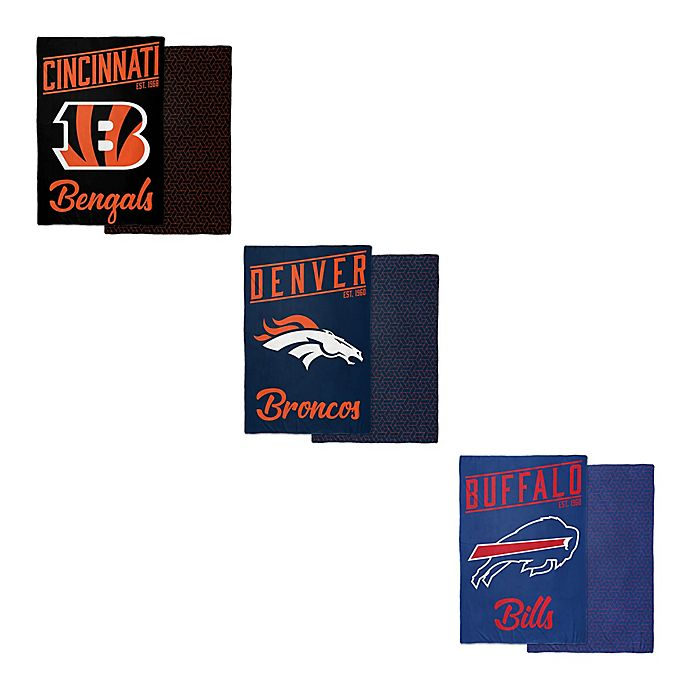 Alternate image 1 for NFL Reversible 6 lb.  Quilted Weighted Blanket Collection