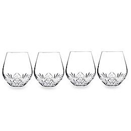 Godinger Dublin Reserve Stemless Wine Goblets (Set of 4)