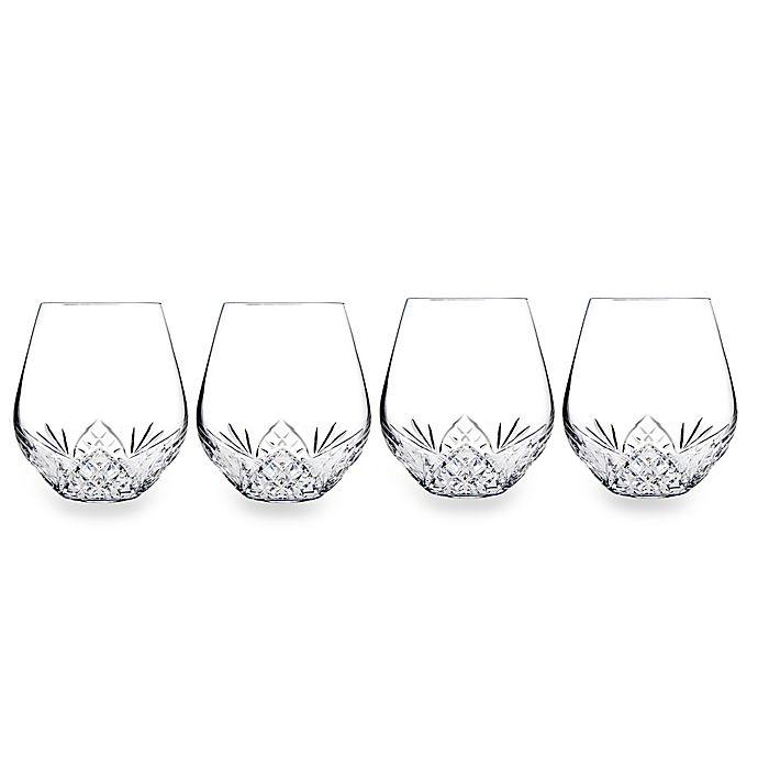 Alternate image 1 for Godinger Dublin Reserve Stemless Wine Goblets (Set of 4)