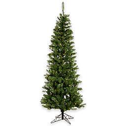 Vickerman 7.5-Foot Salem Pine Pencil Pre-Lit Christmas Tree with Clear Dura-Lit Lights