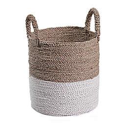 Global Caravan™ Mazu Seagrass Basket in Natural/White