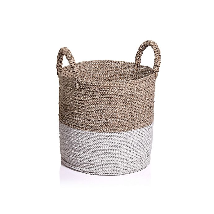 Alternate image 1 for Global Caravan™ Mazu Seagrass Basket in Natural/White
