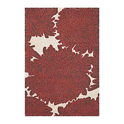 Martha Stewart by Safavieh 4' x 6' Chrysanthemum Area Rug in Red