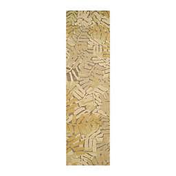 Martha Stewart by Safavieh 2'3 x 8' Palm Leaf Runner in Grey