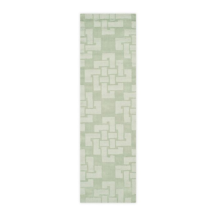 Alternate image 1 for Martha Stewart by Safavieh 2'3 x 8' Knot Runner in Green