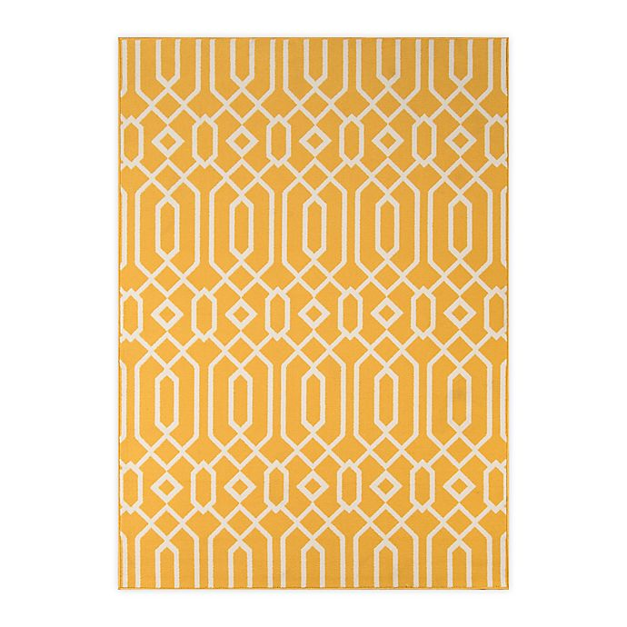 Alternate image 1 for Momeni Baja Links 7'10 x 10'10 Indoor/Outdoor Area Rug in Yellow