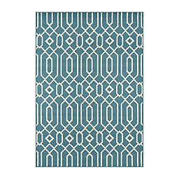 Momeni Baja Links 8'6 x 13' Indoor/Outdoor Area Rug in Blue