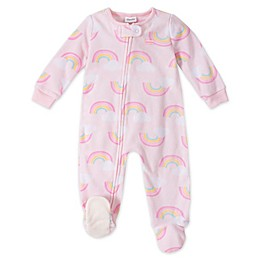 Absorba® Rainbows Toddler Footed Pajamas in Pink